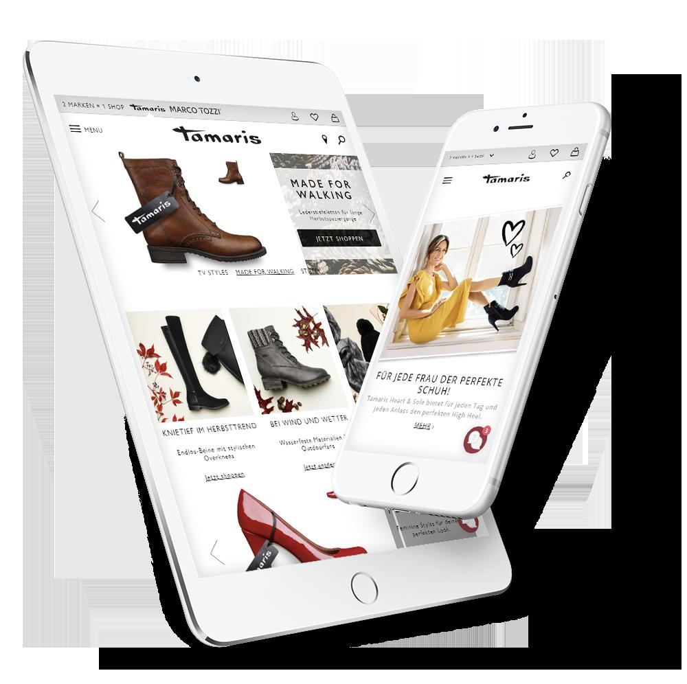 Projekt für Tamaris – Bildschirm Mobile