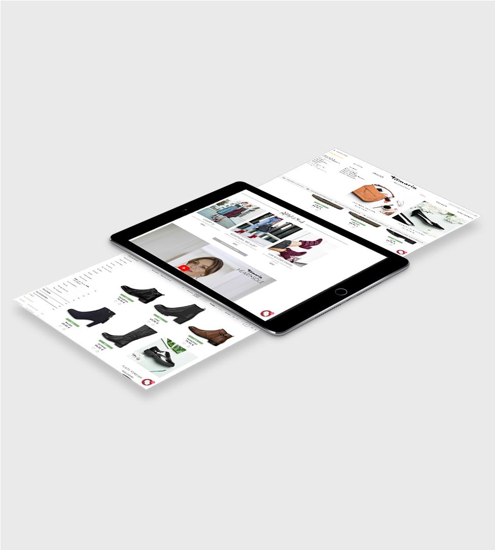 Projekt für Tamaris – Bildschirm IPad