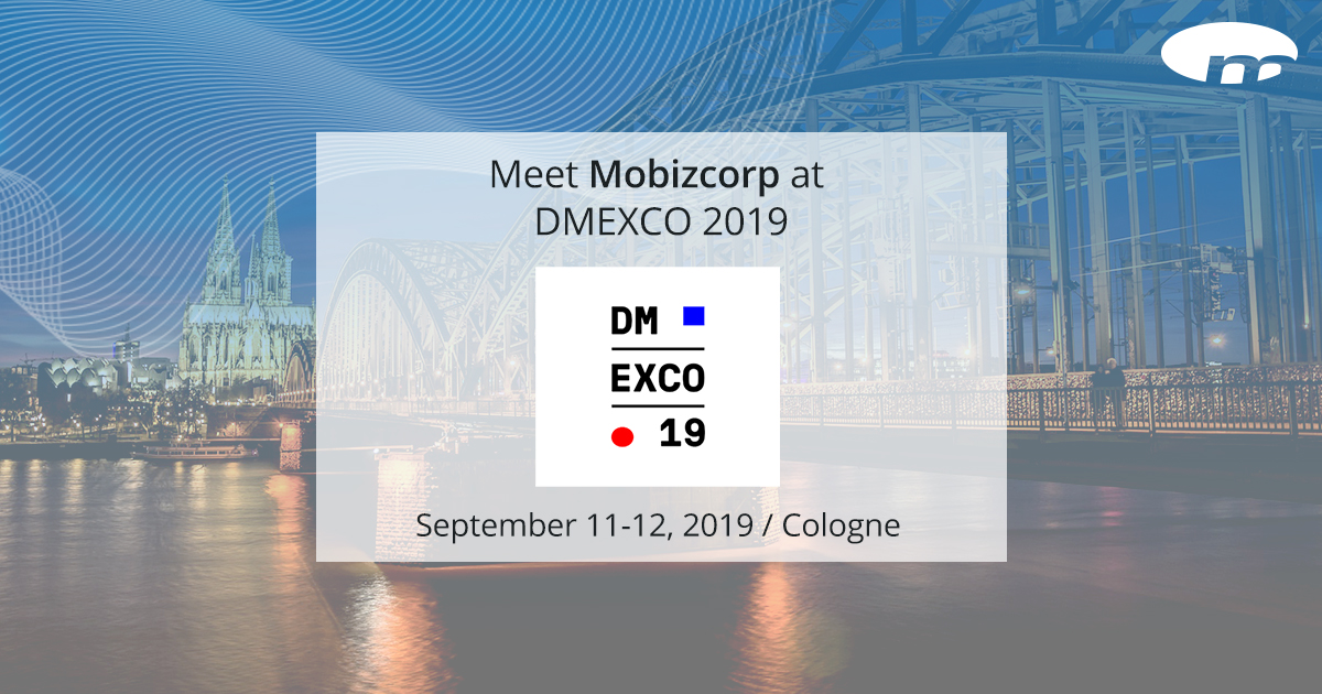 Meet Mobizcorp at DMEXCO 2019 in Cologne